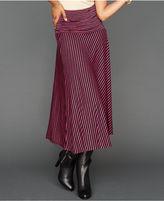 INC International Concepts Petite Skirt, Convertible Striped Metallic Maxi