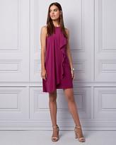 Le Château Knit Halter Ruffle Dress