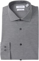 Calvin Klein Basketweave Texture Slim Fit Stretch Dress Shirt