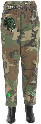 Marc Jacobs high waist camouflage trousers