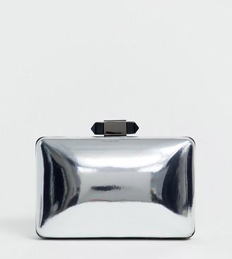 True Decadence Exclusive silver mirror clutch bag