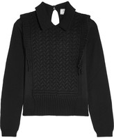 Prada Ruffled Wool Sweater - Black