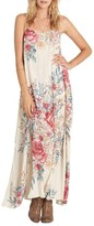 Billabong Women's San Sebonne Floral Print Maxi Dress
