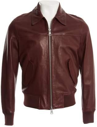 Ami Burgundy Leather Jackets