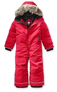 Canada Goose Unisex Grizzly Fur Trimmed Snowsuit - Little Kid