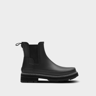 Hunter Women's Refined Stitch Detail Chelsea Boots - Black