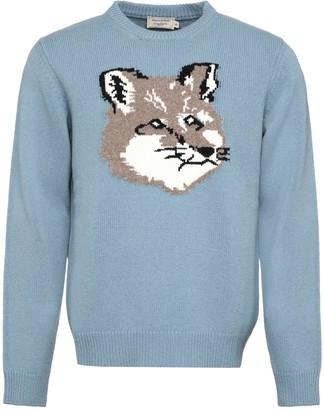 MAISON KITSUNÉ Long Sleeve Crew-neck Sweater