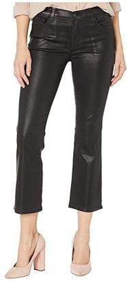 J Brand Selena Mid-Rise Crop Boot in Galactic Black (Galactic Black) Women's Jeans