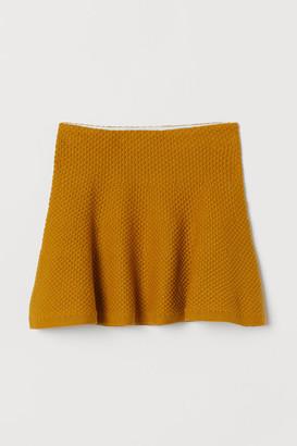 H&M Skater Skirt - Yellow