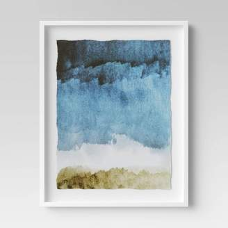 "Minted Project 62 24"" x 30"" Blue Painting Framed Print - Project 62TM"