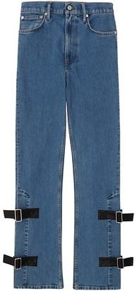 Helmut Lang High-Rise Strap Detail Bootleg Jeans