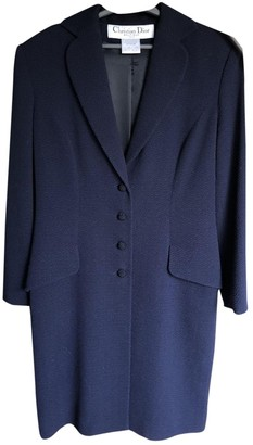 Christian Dior Blue Silk Coat for Women Vintage