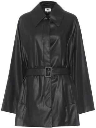 MM6 MAISON MARGIELA Faux-leather belted jacket