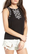 Sun & Shadow Women's Leah Embroidered Tank