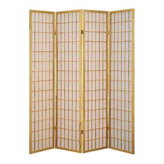 Screen Gems Shoji 4 Panel Screen /Brown Room Divider