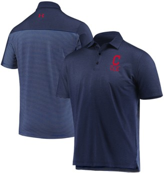 Under Armour Men's Navy Cleveland Indians Novelty Performance Polo
