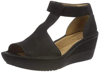 Clarks Women's Wynnmere Avah Ankle Strap Sandals, Black Nubuck