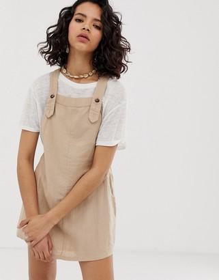 Rusty troublemaker pinafore dress-Beige