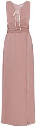 Kith & Kin Pinky Fitted Dress With Drapelike Gather & Strap Front Detail