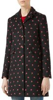 Gucci Floral Embroidered Wool Coat, Multicolor
