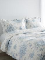 Melange Home Toile Linen Blend Hemstitch Duvet Set