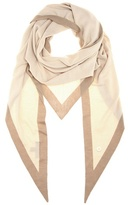 Loro Piana Summer Twice cashmere and silk-blend triangle scarf