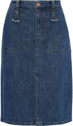 See by Chloe Braid-detailed Denim Skirt