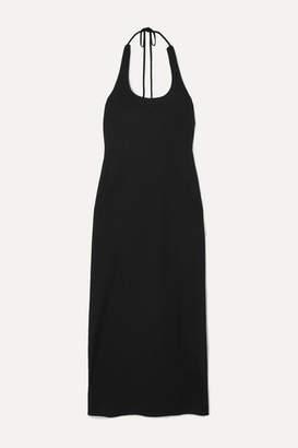 Georgia Alice Sofia Crepe Halterneck Midi Dress - Black