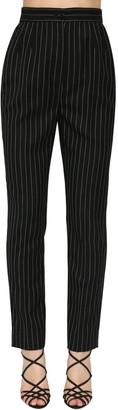Dolce & Gabbana Pin Striped Straight Wool Leg Pants