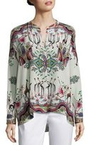 Etro Safari-Print Silk Tunic