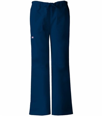 Cherokee Women's Tall Workwear Scrubs Low Rise Draw String Cargo Pant