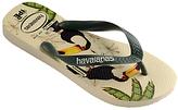 Havaianas Ipe Bird Print Mix Flip Flops, Green