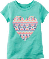 Carter's Short-Sleeve Turquoise Knit Tee - Girls 4-8