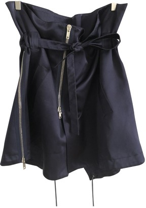 Givenchy Blue Silk Skirt for Women