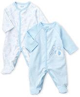 Little Me Newborn/Infant Boys) Two-Piece Safari & Stripes Footie Set