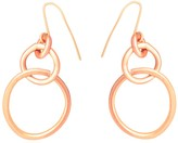 Lily Flo Jewellery Embrace Solid Rose Gold Drop Earrings
