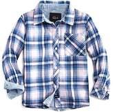 Rails Girls' Plaid Shirt with Striped Accents - Little Kid, Big Kid