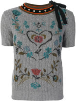 RED Valentino embroidered knitted top