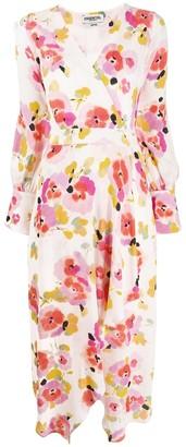 Essentiel Antwerp Valoumi floral wrap dress