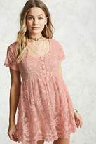 Forever 21 Sheer Lace Babydoll Dress