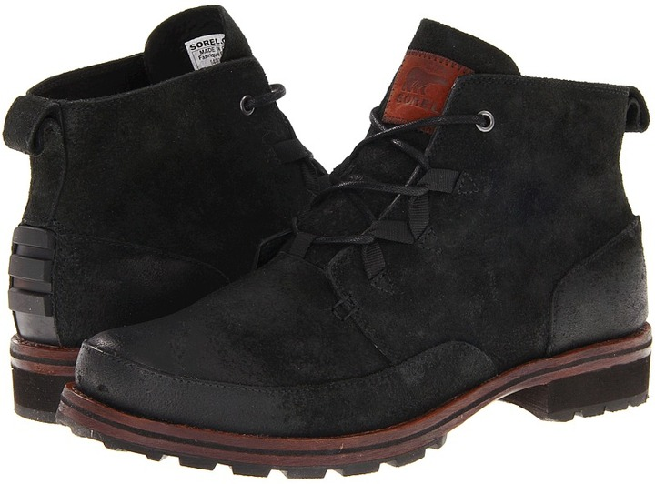 Sorel King Stacked Chukka (Black) - Footwear