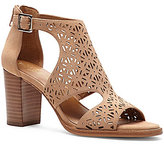 Arturo Chiang Arturo Chang Edythe Perforated Suede Peep Toe Block Heel Booties