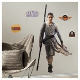 BuySeasons Star Wars 7 The Force Awakens Rey Giant Wall Decal