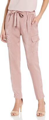 James Jeans Women's Shelby Slim Slouch Tie Waist Cargos in Rose 28