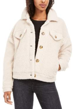 Hippie Rose Juniors' Sherpa Trucker Jacket