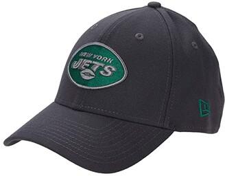 New Era NFL Stretch Fit Graphite 3930 -- New York Jets (Graphite) Baseball Caps