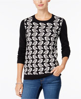 Charter Club Bird-Print Sweater, Only at Macy's