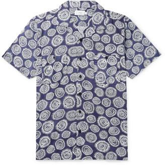 Onia Camp-Collar Printed Cotton Shirt