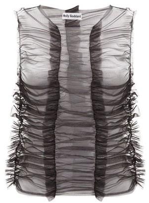 Molly Goddard Joly Ruffled Tulle Top - Black