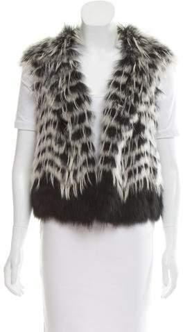 Yigal Azrouel Open Front Fur Vest